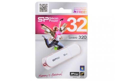 USB флешка Silicon Power LuxMini 320 White 32GB (SP032GBUF2320V1W) Флешки