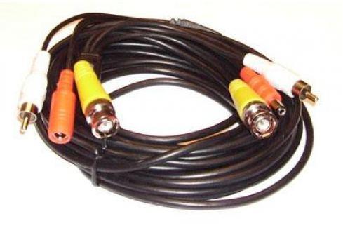 Кабель Orient для камер видеонаблюдения видео BNC + аудио RCA + питание, 7.5 м, oem Кабель BNC и RCA + DC
