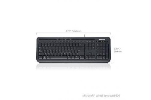 (ANB-00018) Клавиатура Microsoft Wired 600 Keyboard USB Black Retail Клавиатуры и комплекты