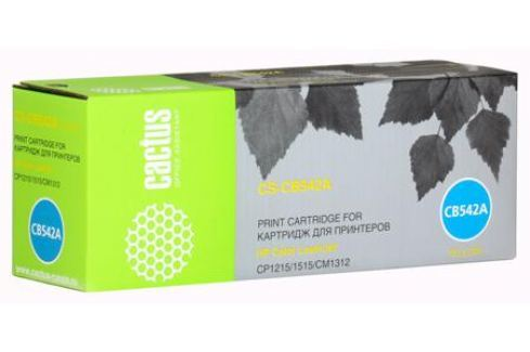 Картридж Cactus CS-CB542A для принтеров HP Color LaserJet CP1215/1515/CM1312, желтый, 1400 стр. Картриджи и расходные материалы