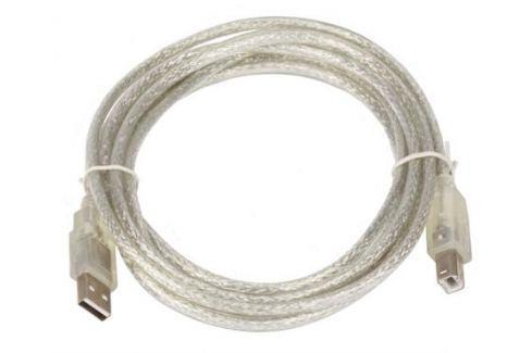 Кабель USB 2.0 AM/BM 3m Telecom прозрачная изоляция (VUS6900T-3MTP) Кабели и переходники