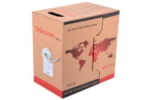 Сетевой кабель бухта 305м UTP 5e Telecom Ultra Base TUS44048 4 пары, одножильный, 24AWG/0.51мм омедненный Green\Orange\gray Кабели и переходники
