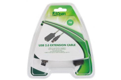 Кабель удлинитель активный(с усилителем) USB2.0-repeater, AM/AF 5м Aopen(ACU823-5M) Кабели и переходники