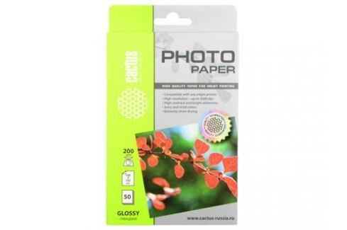 Фотобумага Cactus CS-GA620050 глянцевая 10x15 200 г/м2 50 листов Бумага