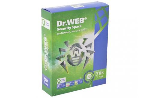 Антивирус Dr. Web Security Space 3 ПК/1 год (BHW-B-12M-3-A3) Программное обеспечение