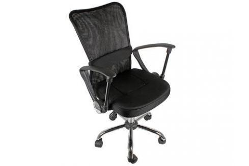 Кресло офисное COLLEGE H-298FA-1 Черный, ткань, сетчатый акрил, 120 кг, крестовина хром, подлокотники черный пластик. (ШxГxВ), см 51x54x90-100 Стулья, кресла