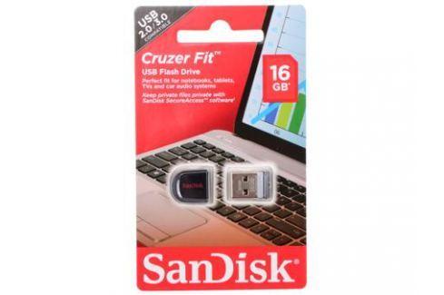 USB флешка SanDisk Cruzer Fit 16GB (SDCZ33-016G-B35) Флешки