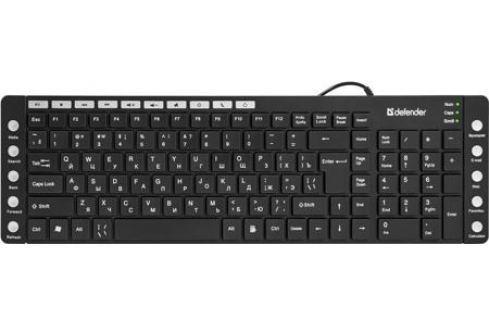 Клавиатура Defender OfficeMate MM-810 USB B(Черн) 105+20кн Клавиатуры и комплекты