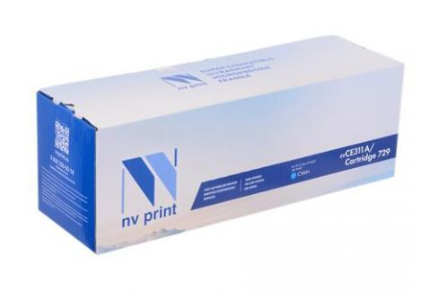 Картридж NV-Print совместимый с Canon 729C для i-SENSYS LBP-7010 Color. Голубой. 1000 страниц. Картриджи и расходные материалы