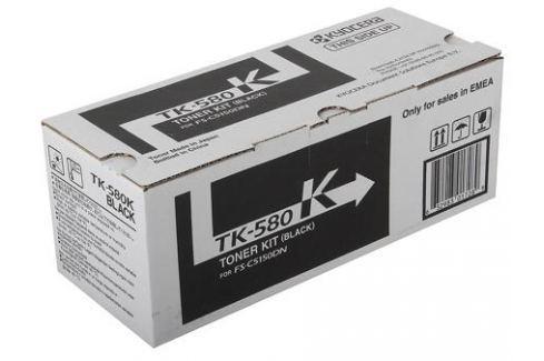 Тонер Kyocera TK-580Bk для FS-C5150DN. Чёрный. 3500 страниц. Картриджи и расходные материалы