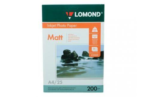 0102052 бумага LOMOND (A4, 200гр, 25л) Photo Матовая , 2 стор. Бумага