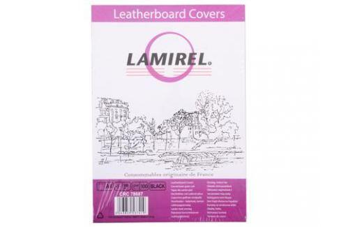 Обложки Lamirel Delta A4, картонные, с тиснением под кожу , цвет: черный, 250г/м?, 100шт Картриджи и расходные материалы
