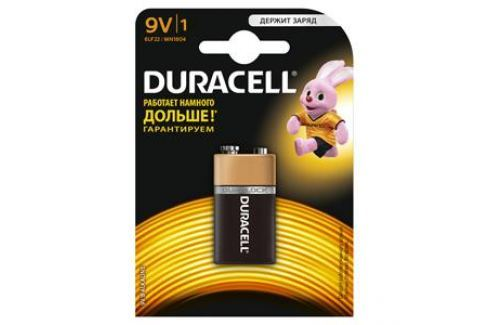 Батарейки DURACELL 6LR61-1BL (10/30/3600) Блистер 1 шт (крона) Зарядные устройства и аккумуляторы