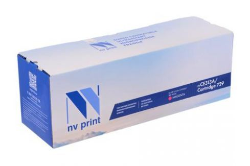 Картридж NV-Print совместимый с Canon 729M для i-SENSYS LBP-7010 Color. Пурпурный. 1000 страниц. Картриджи и расходные материалы