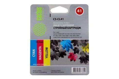 Картридж CACTUS CS-CL41 для Canon PIXMA MP150/ MP160/ MP170/ MP180/ MP450/ MP460/ MP470; iP1200/ iP1300 /iP1600/ iP1700/ iP1800/ iP190 Картриджи и расходные материалы