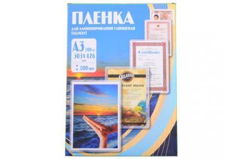 Плёнка для ламинирования Office Kit A3 (PLP10630) 303х426 мм, 100 мкм, глянцевая, 100 шт. Картриджи и расходные материалы