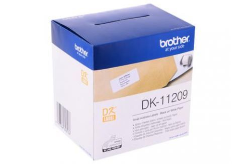 Наклейки Brother DK11209 адресные малые 29х62мм (800шт) Бумага