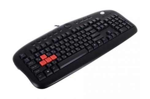 Клавиатура A4Tech KB-28G серый/черный USB Multimedia Gamer Клавиатуры и комплекты