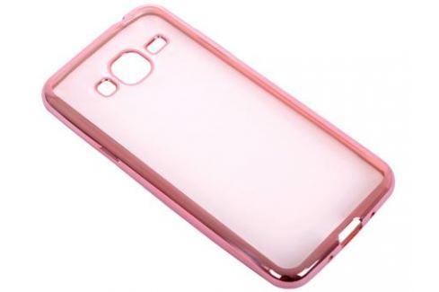 Силиконовый чехол с рамкой для Samsung Galaxy J3 (2016) DF sCase-28 (rose gold) Сумки