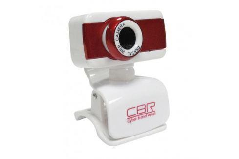 Камера интернет CBR CW-832M Red, универс. крепление, 4 линзы, 1,3 МП, эффекты, микрофон, Интернет-камеры
