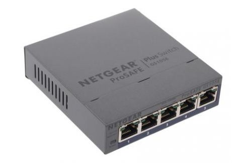 Коммутатор NETGEAR GS105E-200PES 5-портовый гигабитный коммутатор ProSafe Plus с внешним блоком питания и функциями энергосбережения, управление с пом Сетевые адаптеры/ Хабы/роутеры/маршрутизаторы/коммутаторы