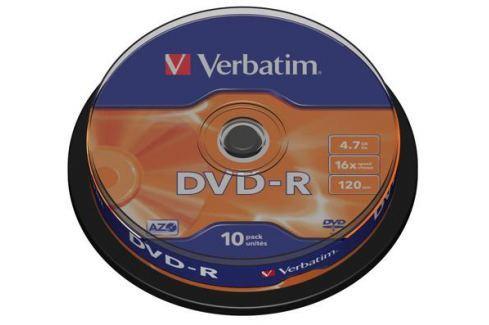DVD-R Verbatim 4.7Gb 16х 10шт Cake Box Диски, дискеты