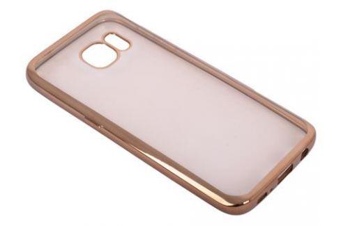 Силиконовый чехол с рамкой для Samsung Galaxy S7 DF sCase-32 (gold) Сумки