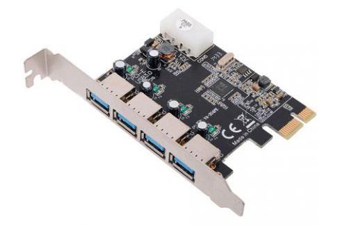 Контроллер PCI-E to USB3.0 Orient VA-3U4PE 4-х портовый хост-адаптер для шины PCI Express, доп.разъём питания, VIA, ret Контроллеры