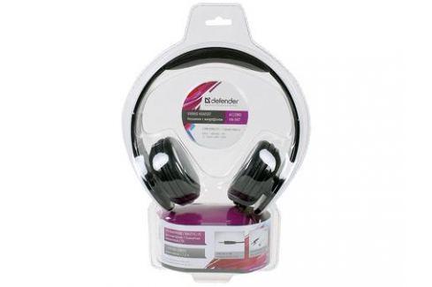 Гарнитура Defender Accord HN-047 черный Микрофоны и наушники