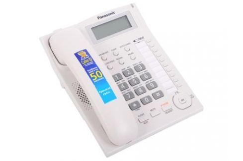 Телефон Panasonic KX-TS2388RUW АОН, Caller ID, ЖК-Дисплей, Flash, Recall, Pause, Память 50, Спикерфон, Wall mt. Телефония