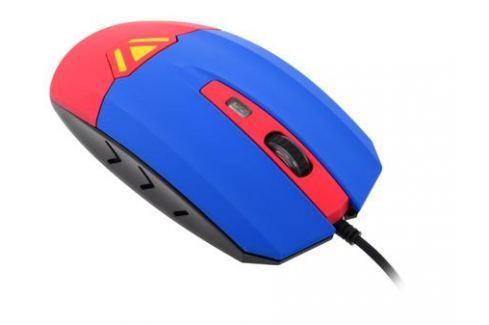 Мышь CBR CM833 Superman, оптика, встроенное Вибро (вибрация на нажатие левой/правой кнопки, массаж кисти, таймер вибро 1 раз в час), принт, 3200dpi, U Мыши