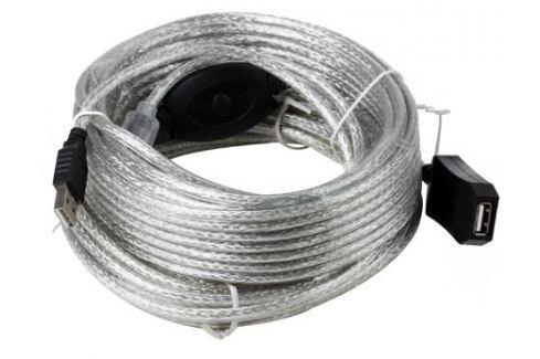 Кабель удлинитель активный(с усилителем) USB2.0-repeater, AM/AF 15м Aopen(ACU823-15M) Кабели и переходники