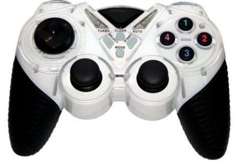 Геймпад 3Cott Single GP-05,14 кнопок, вибрация, USB,черно-белый Джойстики и геймпады