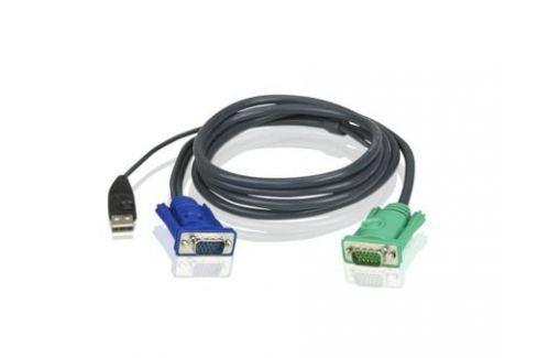 Кабель ATEN KVM Cable 2L-5205U Кабель для KVM: USB(Am)+DB15(m) (PC) -на- SPHD15(m) (KVM),5м Кабели и переходники