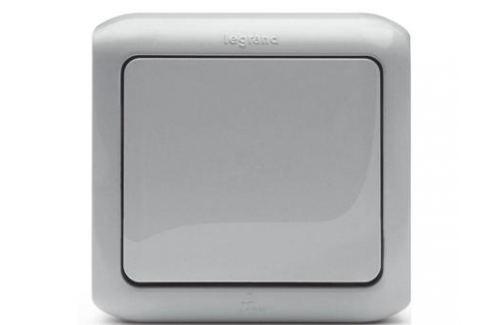 Одноклавишный переключатель Quteo 10A серый 782334 Электрика