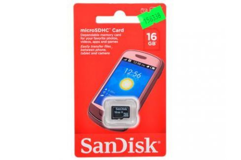 MicroSDHC SanDisk 16Gb Class 4 (SDSDQM-016G-B35) Карты памяти