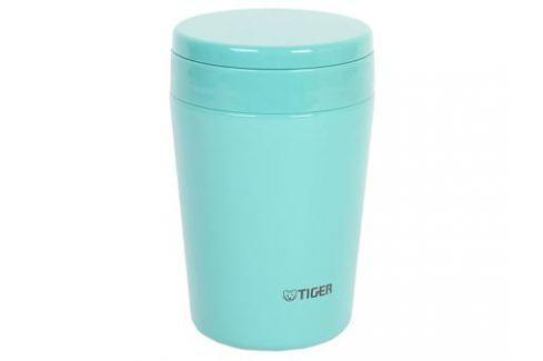 Термоконтейнер для первых или вторых блюд Tiger MCL-A038 Mint Blue, 0.38 л (цвет мятно-голубой, горловина 7 см, конусообразная форма) Термосы
