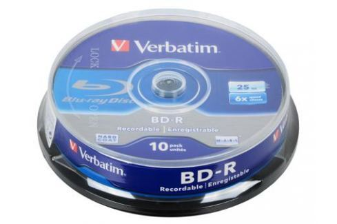 BD-R Verbatim 25Gb 6x 10шт Cake Box Диски, дискеты