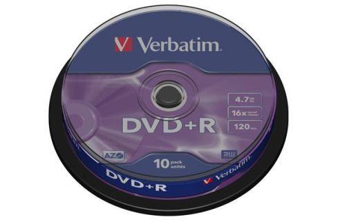 DVD+R Verbatim 4.7Gb 16x 10шт Cake Box Диски, дискеты