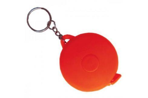 Брелок-рулетка, пластик, красный, круглый Аксессуары