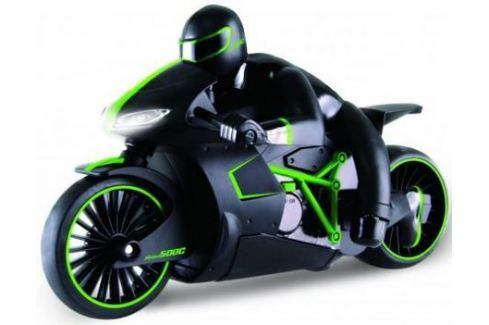 1toy Драйв, мотоцикл с гонщиком на р/у, 2,4GHz, езда с наклоном, свет фар, с АКБ 700mAh Ni-CD, зелен Радиоуправляемые модели