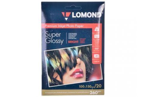 1103102 бумага LOMOND (100*150, 260гр, 20л) Premium Суперглянцевая, 1стор. Бумага