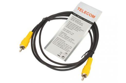 Кабель соединительный RCA (M) - RCA (M) черный 1,5m, Telecom (TAV4158-1.5M) Кабели и переходники