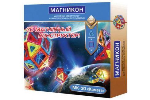 Магнитный конструктор Магникон Комета 30 элементов МК-30 Конструкторы, мозаики, пазлы
