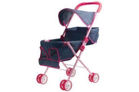 1toy коляска прогулочная с капюшоном для 2х кукол