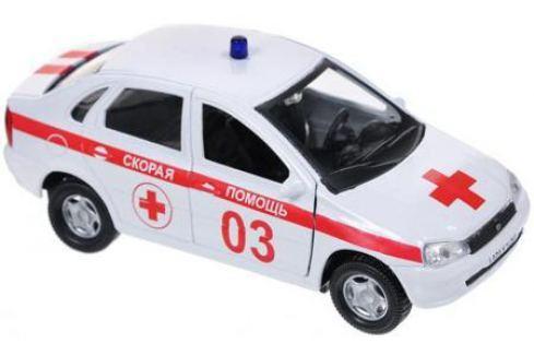 Скорая помощь Autotime Лада Калина 14.5 см бело-красный Р40517 Игрушки