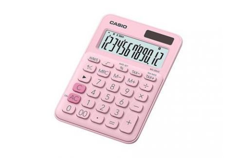 Калькулятор настольный CASIO MS-20UC-PK-S-EC 12-разрядный розовый Калькуляторы