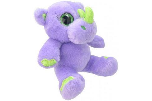 Мягкая игрушка носорог Wild Planet Носорог K8203 19 см сиреневый салатовый искусственный мех текстил Игрушки