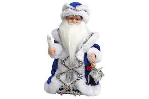 Дед Мороз Новогодняя сказка 30 см 1 шт синий пластик, текстиль, мех 972609 Аксессуары