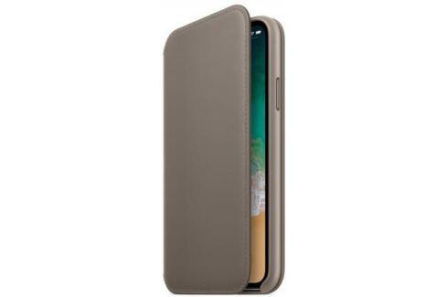 Чехол-книжка Apple Leather Folio для iPhone X платиново-серый MQRY2ZM/A Сумки
